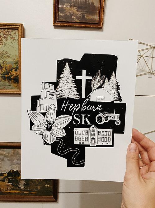 Hepburn 8x10 Print