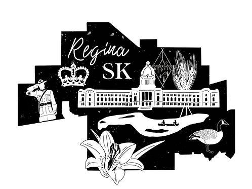 """Regina City Print 10x8"""""""