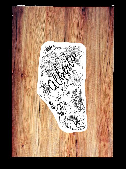Alberta Floral Sticker