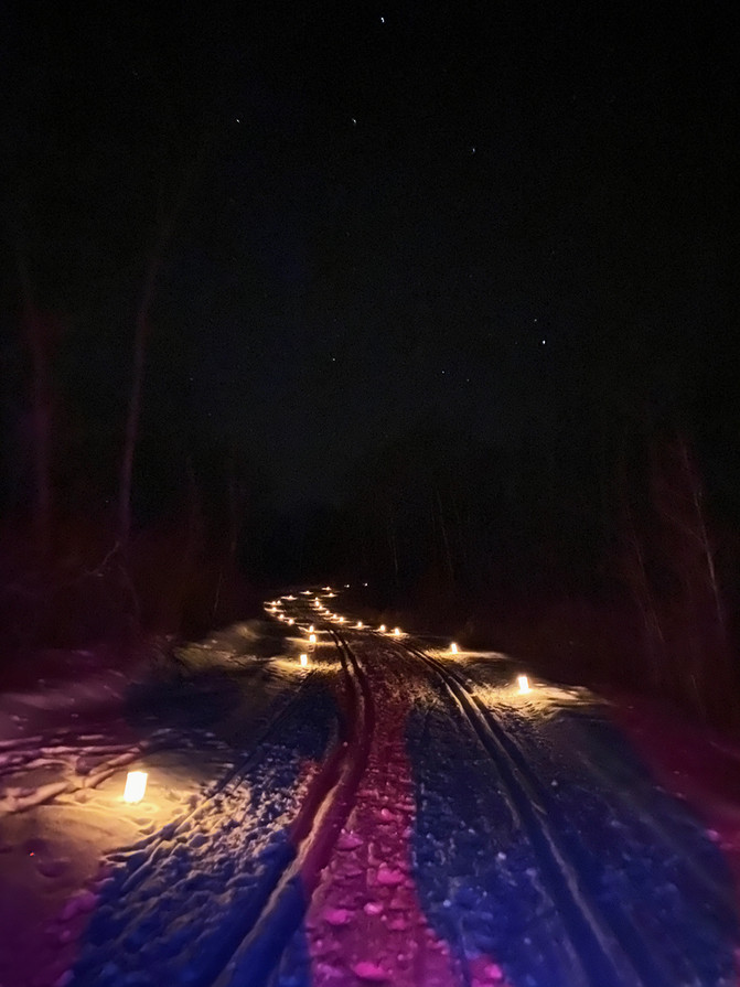Candle Light Ski at Moose Mountain Provincial Park