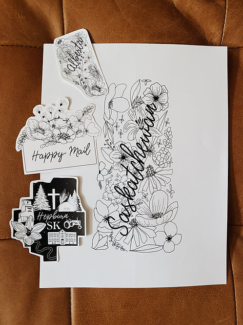 Print + 3 Stickers Gift Bundle