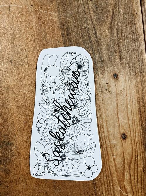 Sask Floral Sticker