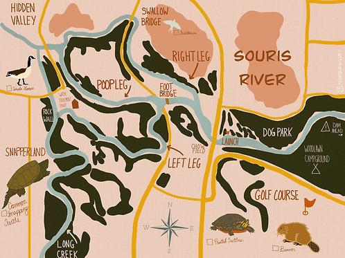Souris River Illustrated Map Set