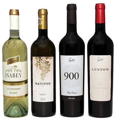 Weingut Sevilen - 2xWeiss 2xRotwein Jeweils die Besten Jahrgänge z.AKTIONSPREIS