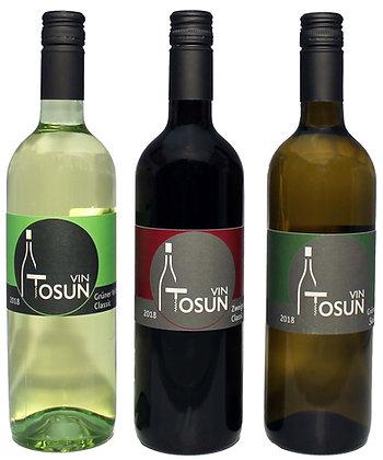 Vin ToSUN-3xÖsterreich Gr.Veltliner Select.Gr.Velt.Cl.Zweigelt Cl.0,75L 0,75 l