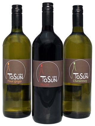 Vin ToSun 2-Chardonnay 2 Merlot 2 Pinot Grigio 6x 1,0 Liter Aktion