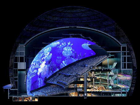 Leading Edge Scaffold - MSG Sphere in Las Vegas