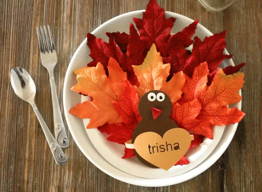 Colorful Thanksgiving Dinner Placeholder