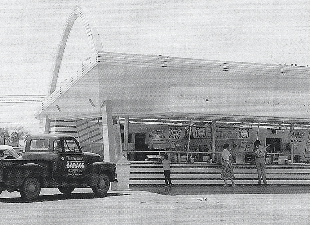 At the McDonalds in Phoenix in 1954, Central Avenue and Indian School Road. Image credit: Brad Hall