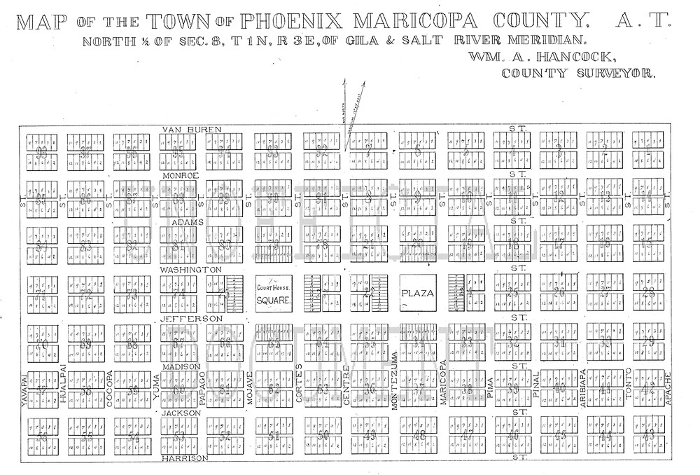 downtown Phoenix, east-west streets were named one way, while north-south streets are named another.