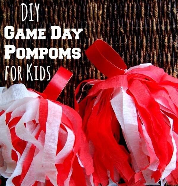 DIY Pom Poms for Game Day
