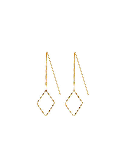 JUULRY Small Rhombus Earrings Gold
