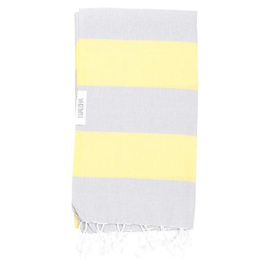 LUALOHA Grey Yellow Towel