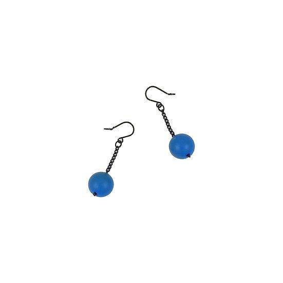 SCENERY LABEL Drop Earrings Blue Ball