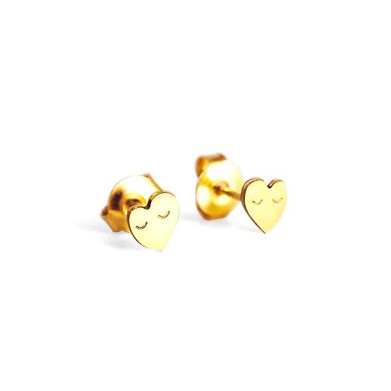 ADORABILI Heart Stud Earrings