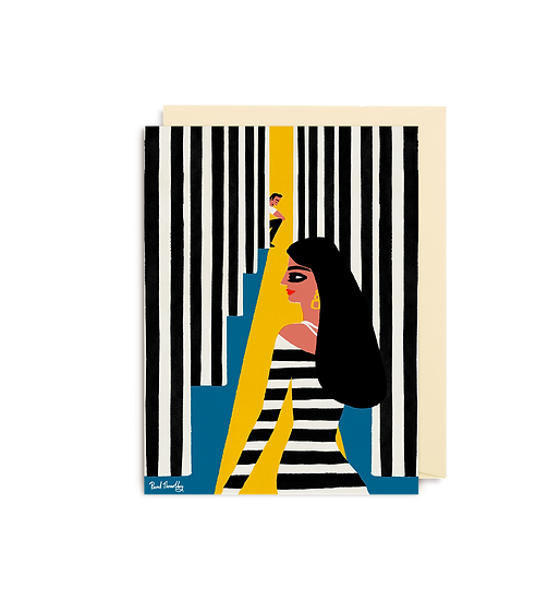 PAUL THURLBY Stripes Card