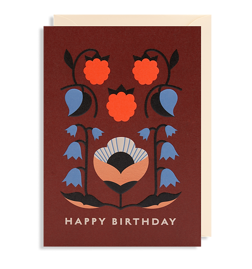 DARLING CLEMENTINE Birthday Brown Card