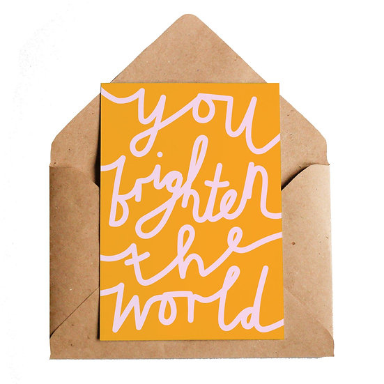 LOTTIE HALL Brighten The World Card