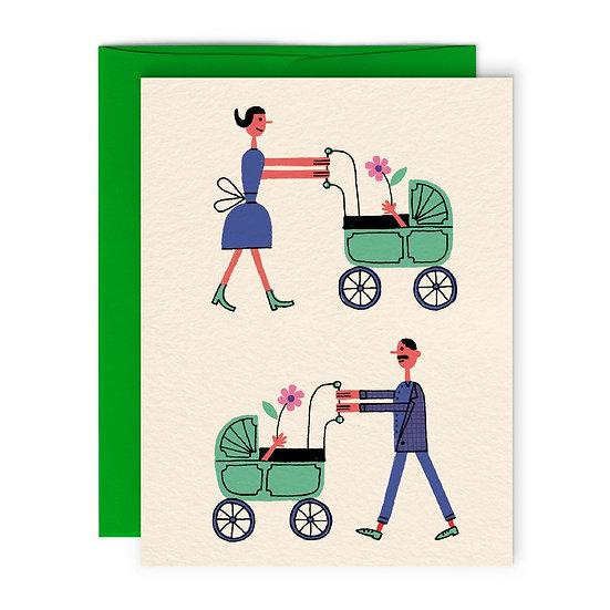 BENOIT TARDIF Baby Twins Card