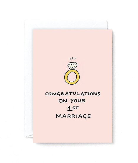 HOLLY ST CLAIR First Marriage Card