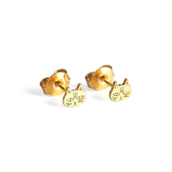 ADORABILI Cat Stud Earrings