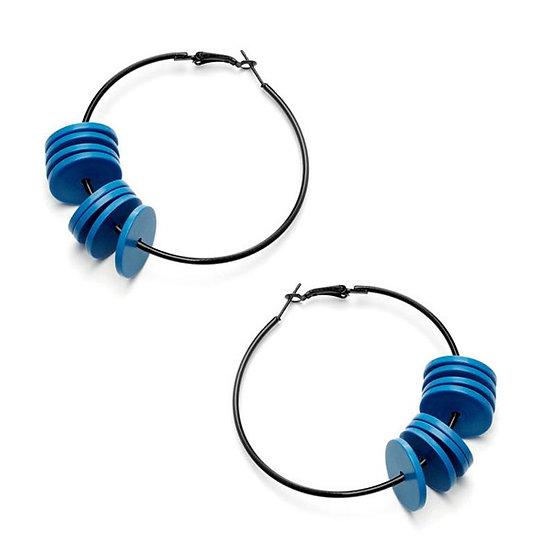 WHOLESALE Hoop Earrings Blue