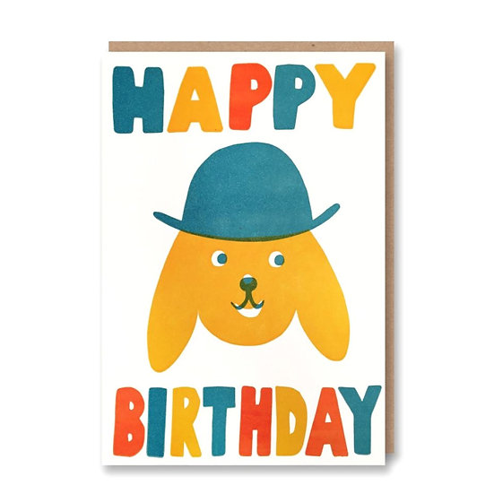 SUKIE Dog With Hat Card