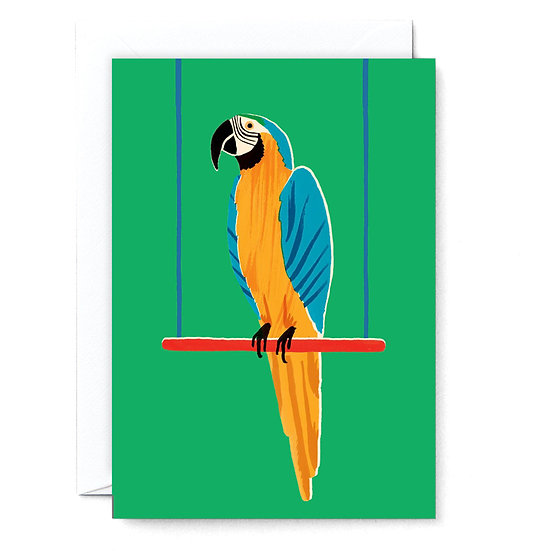 RUBY TAYLOR Parrot Card