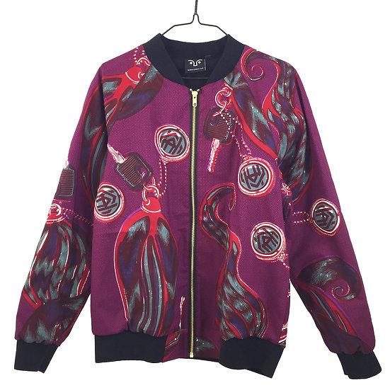 SCENERY LABEL Bomber Jacket Pink