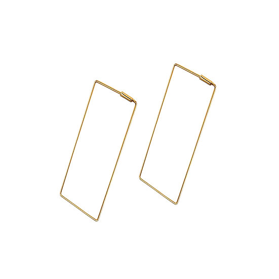 JUULRY Rectangle Hoops Gold