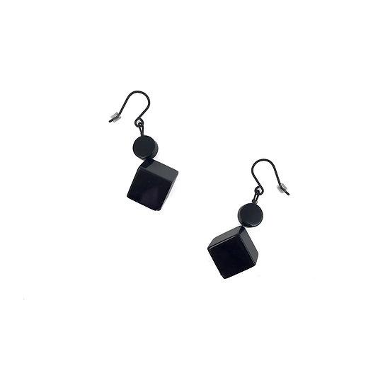 SCENERY LABEL Drop Earrings Cubes