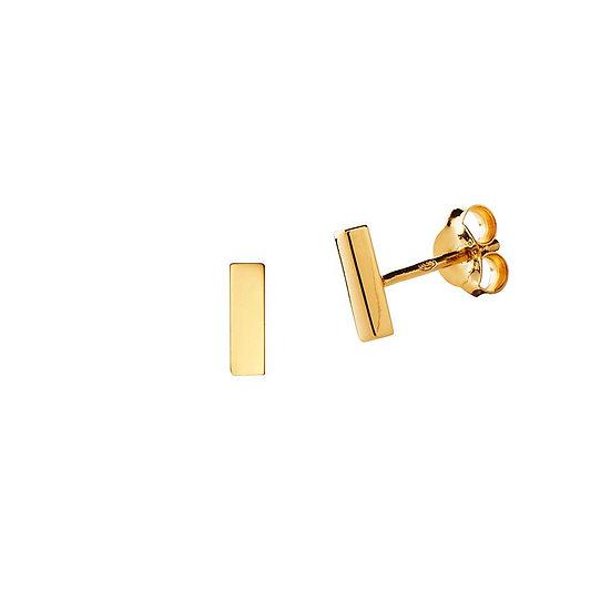 JUULRY Bar Stud Earrings Gold