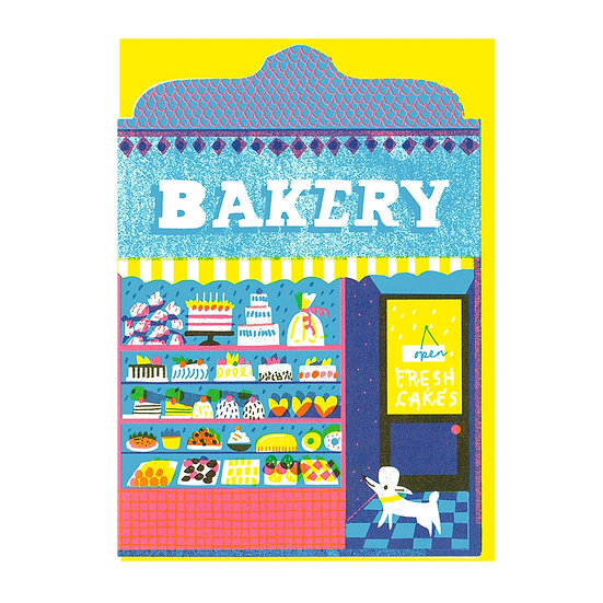 THE PRINTED PEANUT Cake Shop Card