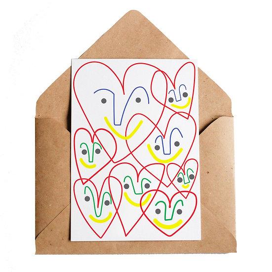 LOTTIE HALL Happy Hearts Card