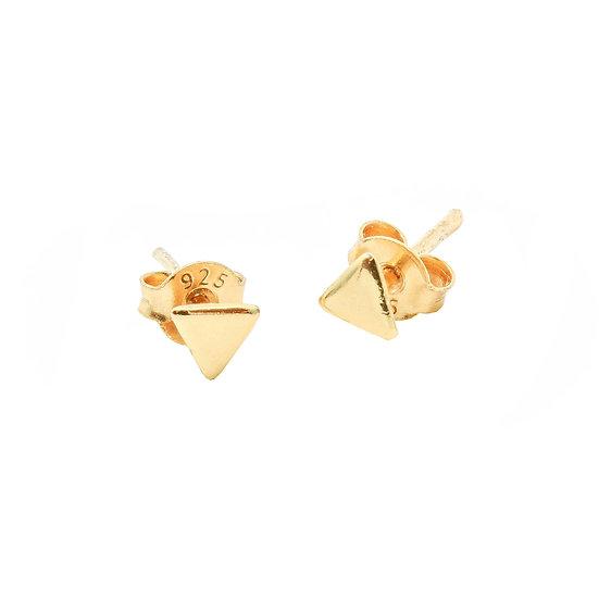 JUULRY Triangle Stud Earrings Gold