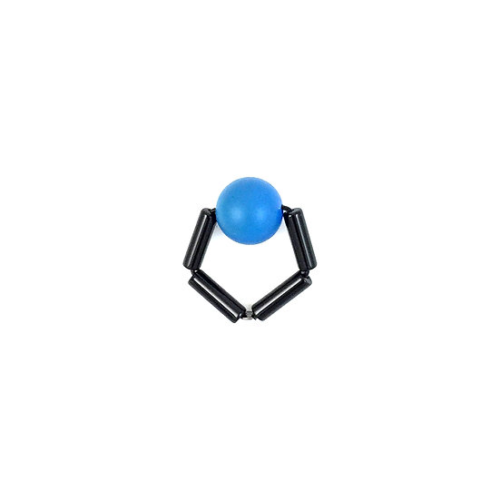 WHOLESALE  SCENERY LABEL Bead Ring Blue Ball