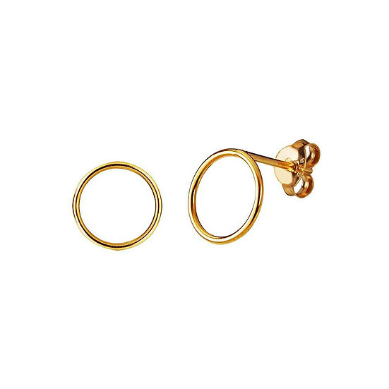 JUULRY Circle Stud Earrings Gold