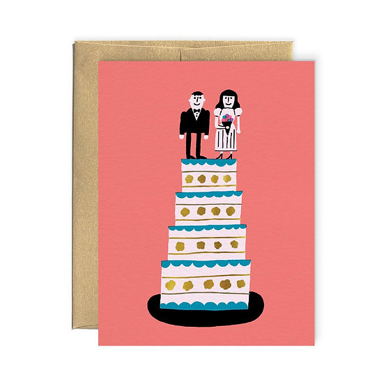 PAPEROLE Wedding Cake Card