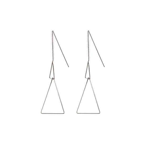 JUULRY Double Triangle Earrings Silver