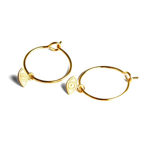 ADORABILI Eye Hoop Earrings