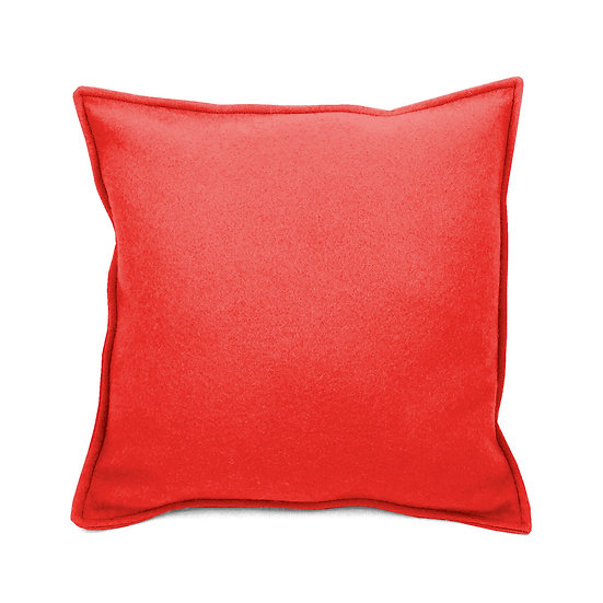 SCENERY LABEL Felt Cushion Red