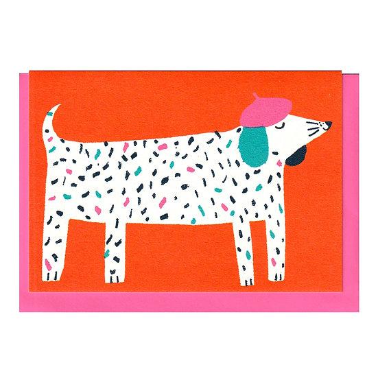 THE PRINTED PEANUT Hat Dog Card