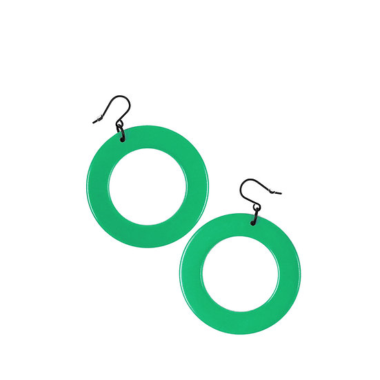 SCENERY LABEL Drop Earrings Green Circle