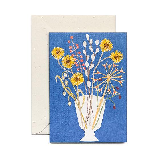 HADLEY Glass Vase Card