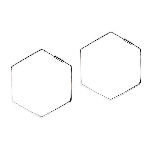 JUULRY Large Hexagon Hoops Silver
