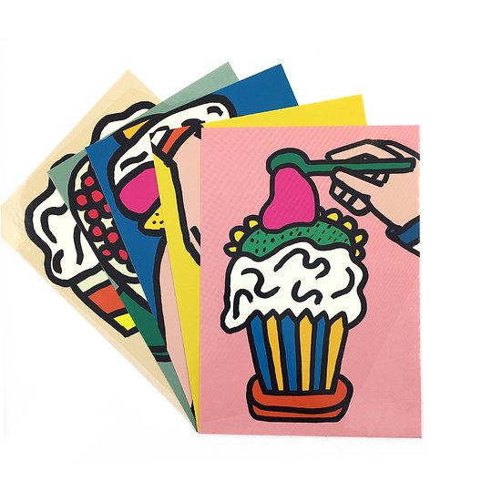 SARAH CORYNEN Cake Postcard Set
