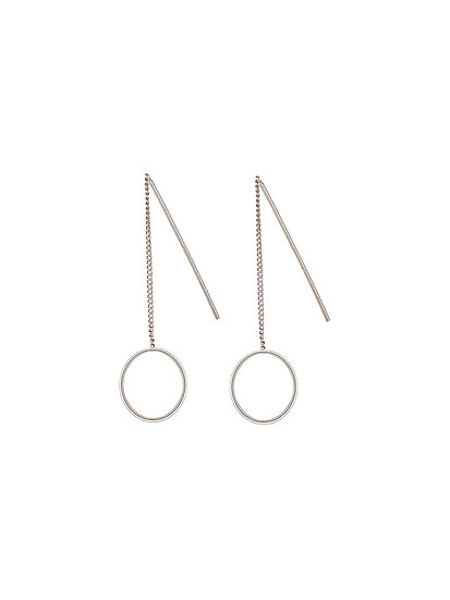 JUULRY Small Circle Earrings Silver