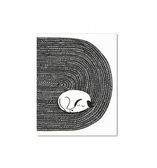 LISA JONES STUDIO Tired Dog Card