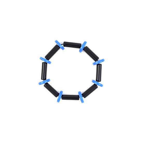 SCENERY LABEL Bead Bracelet Blue Disc