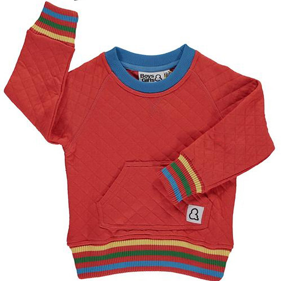 BOYS & GIRLS Quilted Crew